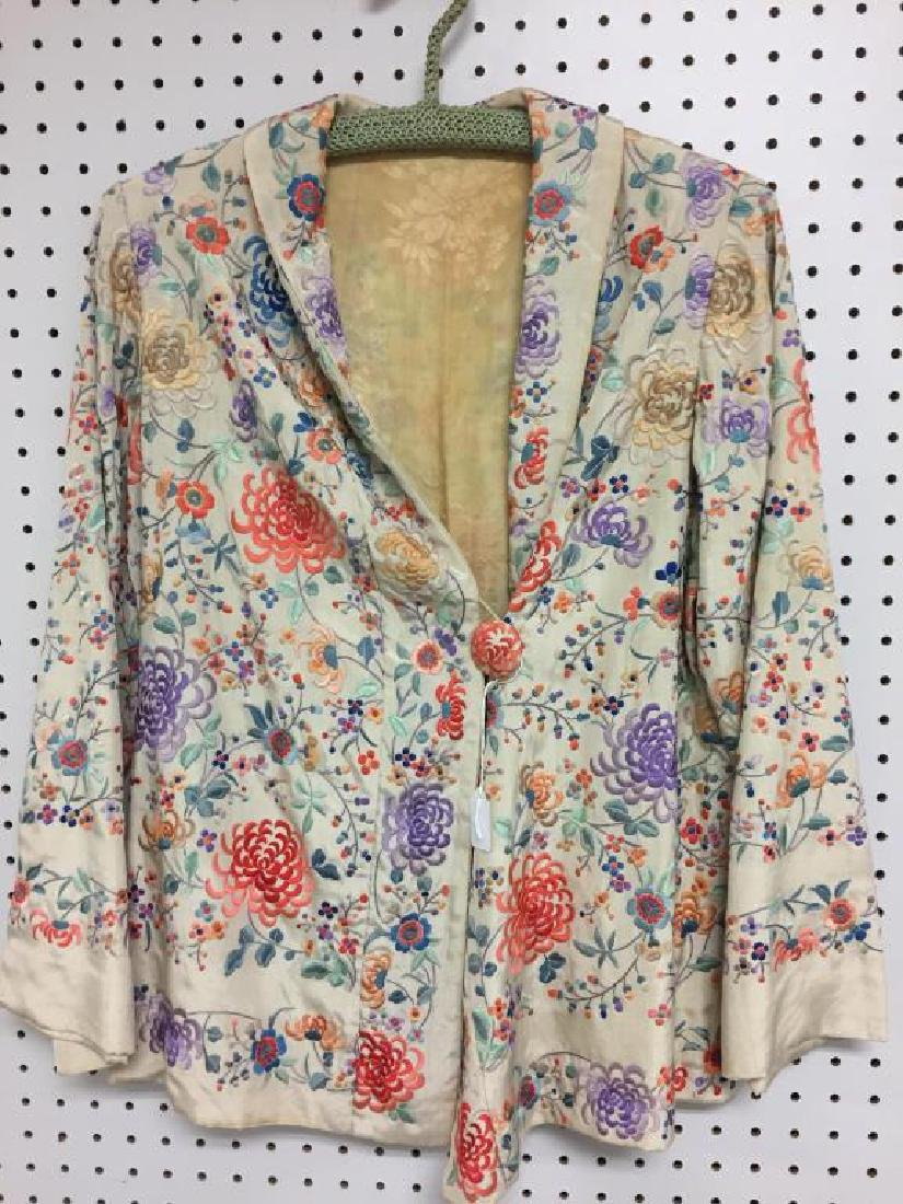 Embroidered  Japanese style silk  jacket