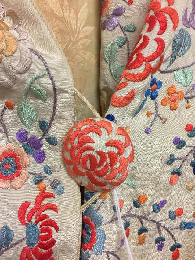 Embroidered  Japanese style silk  jacket - 2