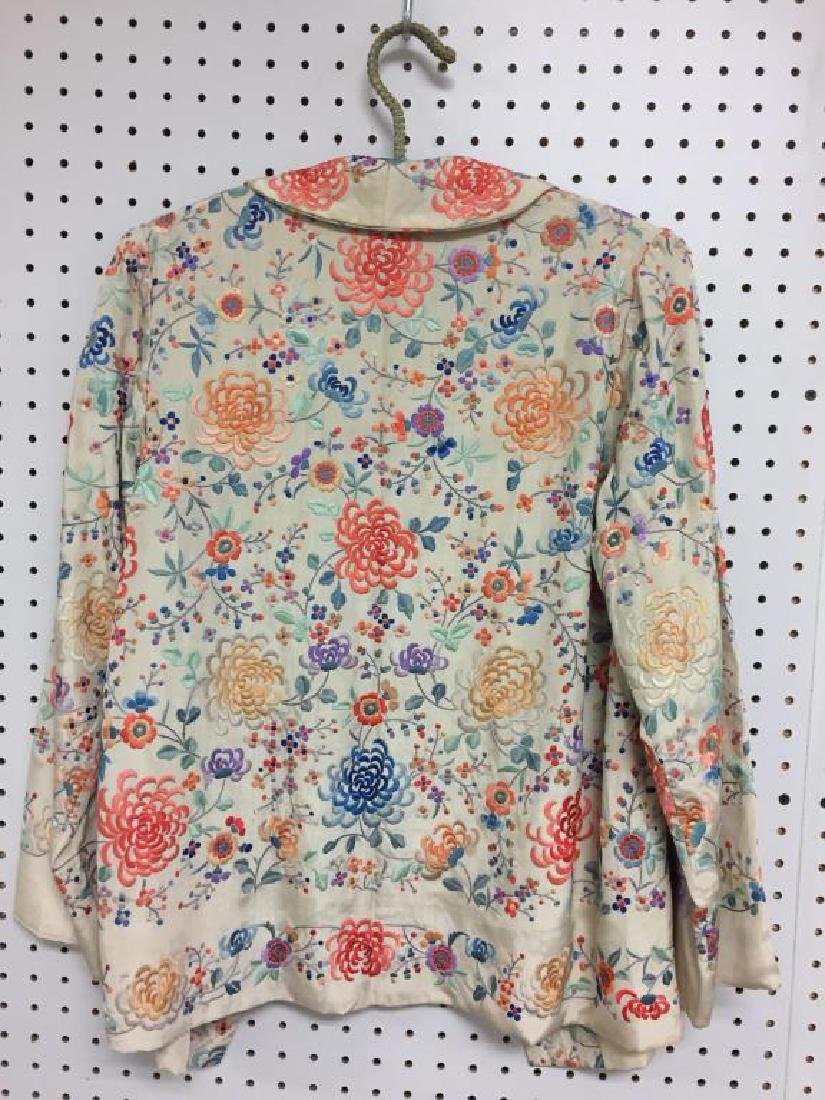 Embroidered  Japanese style silk  jacket - 5