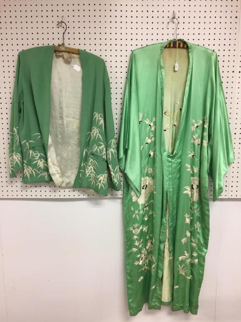 Lot of two silk Japanese style garments
