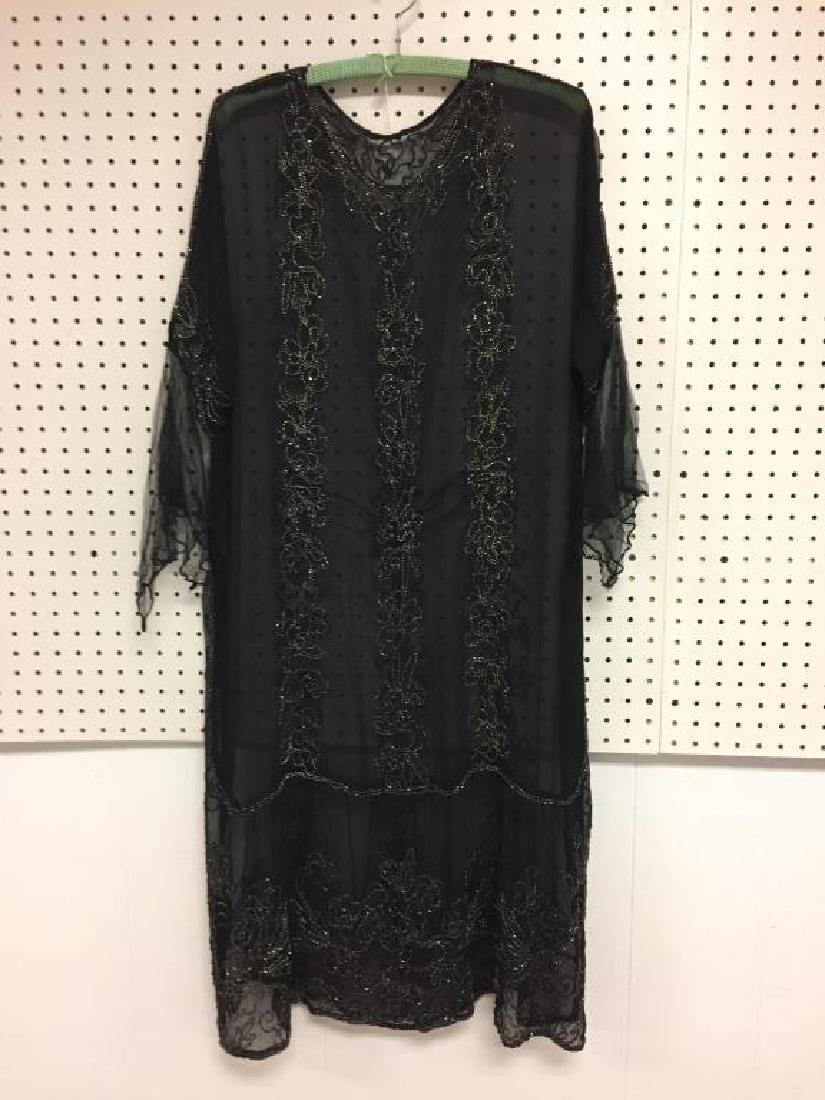 Beaded early 19th century sheer dress