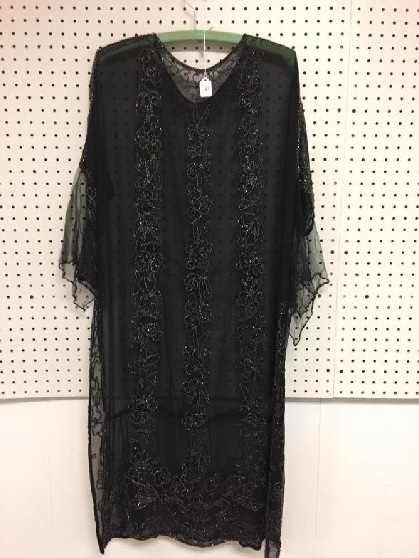 Beaded early 19th century sheer dress - 4
