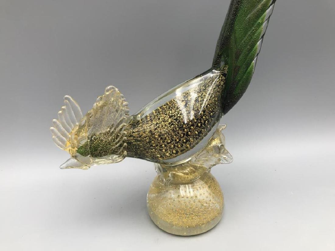 Pair of Venetian glass roosters - 2