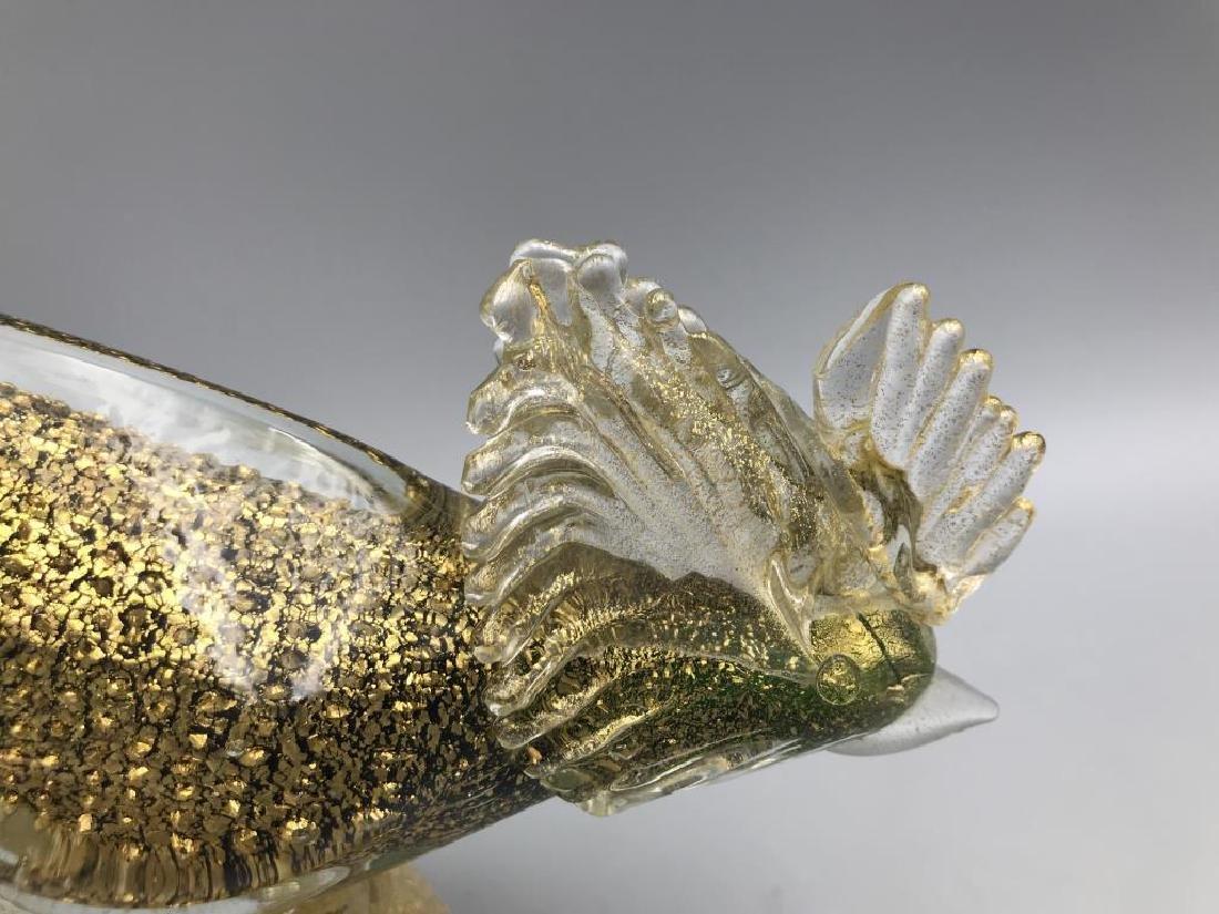 Pair of Venetian glass roosters - 3