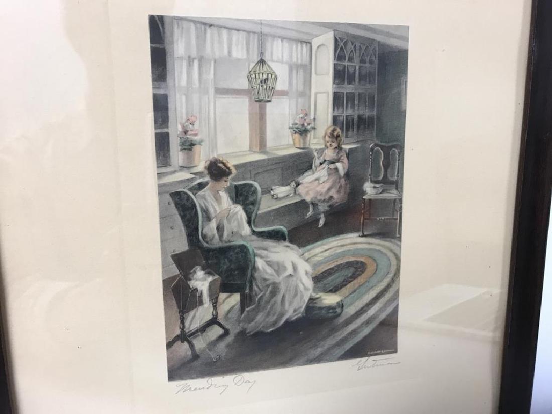 Bessie Pease Gutmann Mending Day print - 2