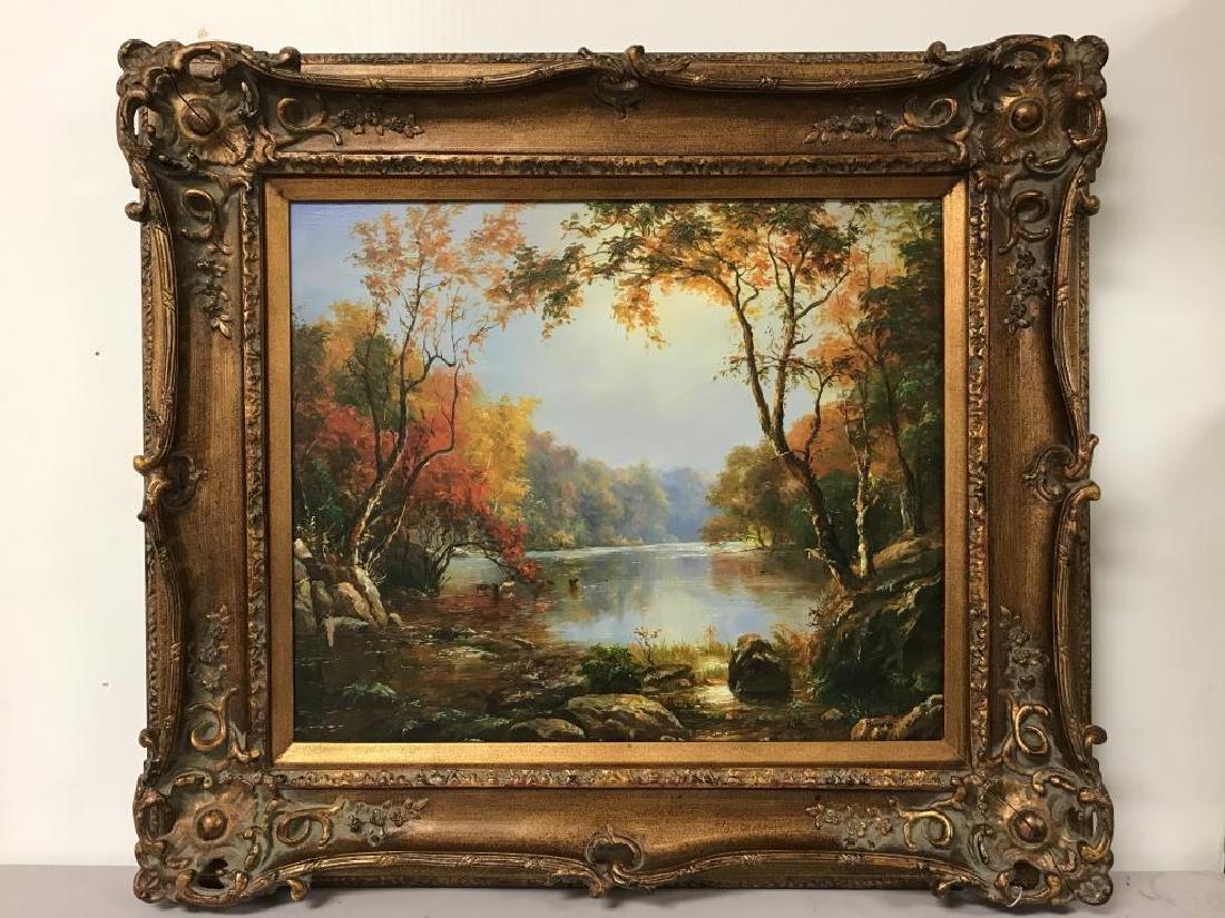 Painting of lake