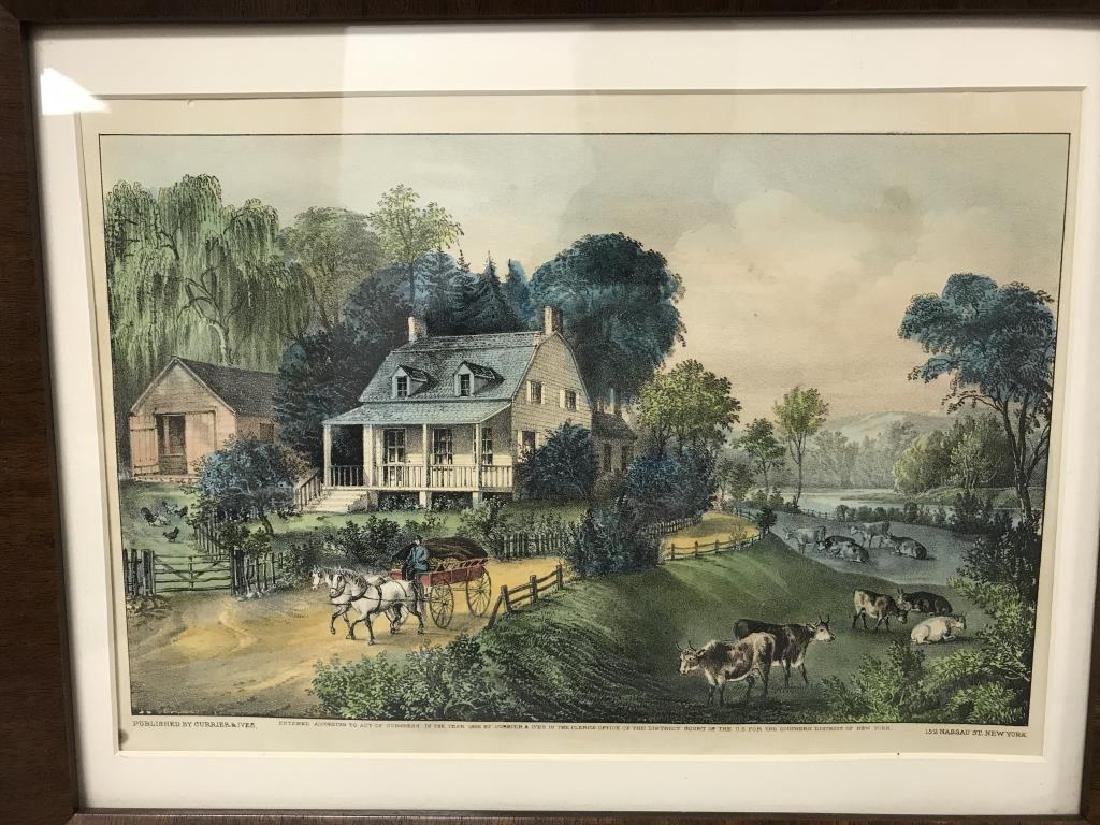 3 Currier & Ives prints - 2