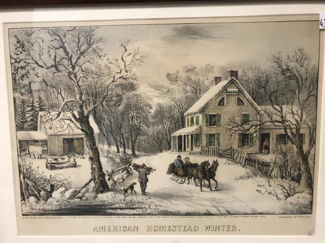 3 Currier & Ives prints - 3