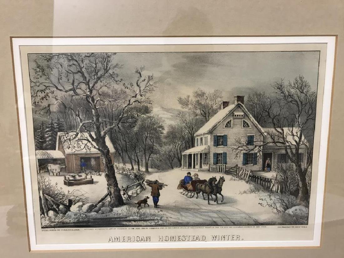 3 Currier & Ives prints - 4