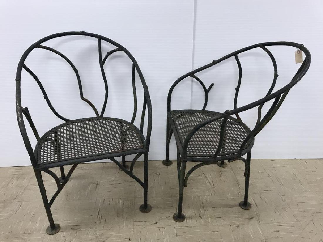 Tree form wrought iron patio set - 7