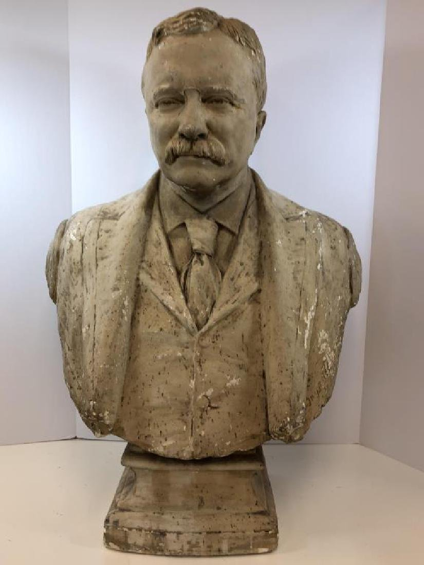 Plaster bust of Theodore Roosevelt;
