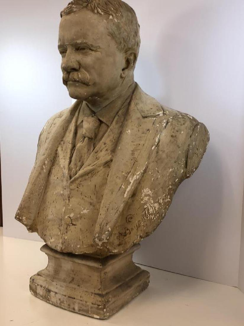 Plaster bust of Theodore Roosevelt; - 2