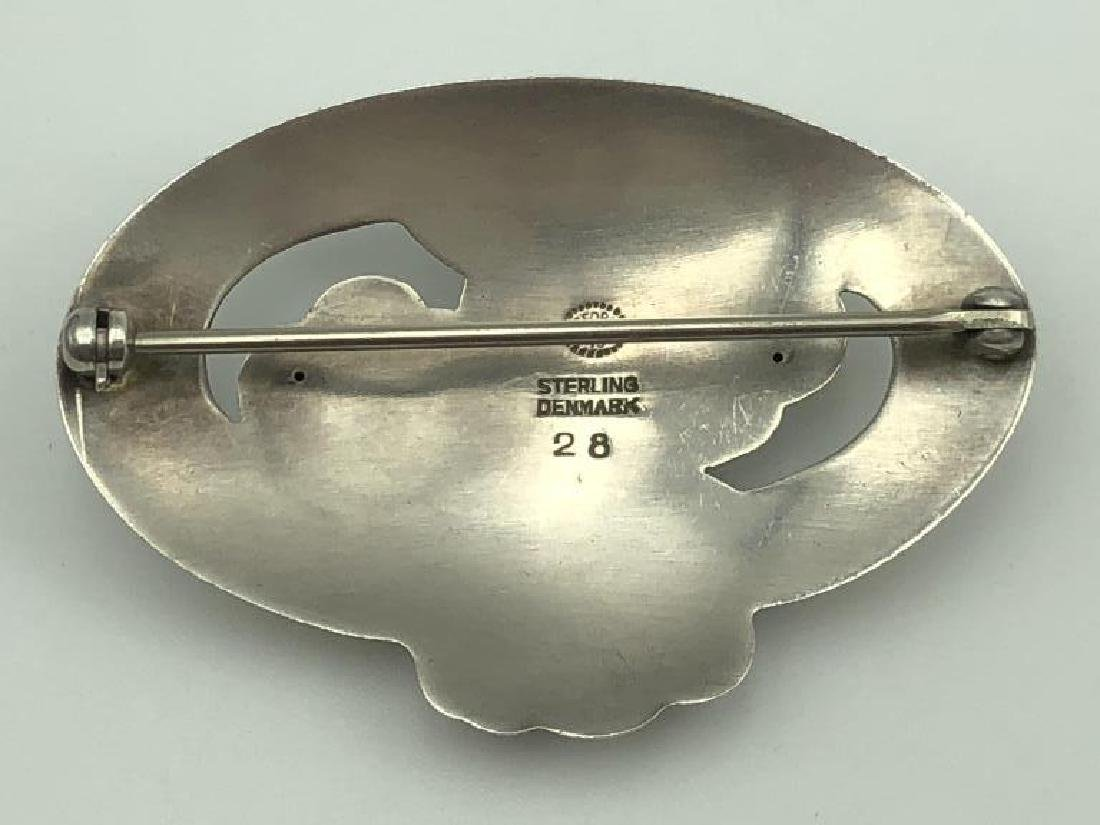 Georg Jensen sterling brooch - 2