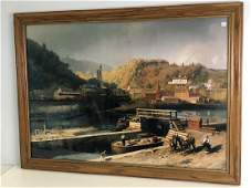 Canal Print by Hermann Herzog