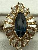 14 k Sapphire and Diamond ladies ring