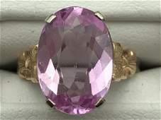 Lot of two 14 carat ladies rings