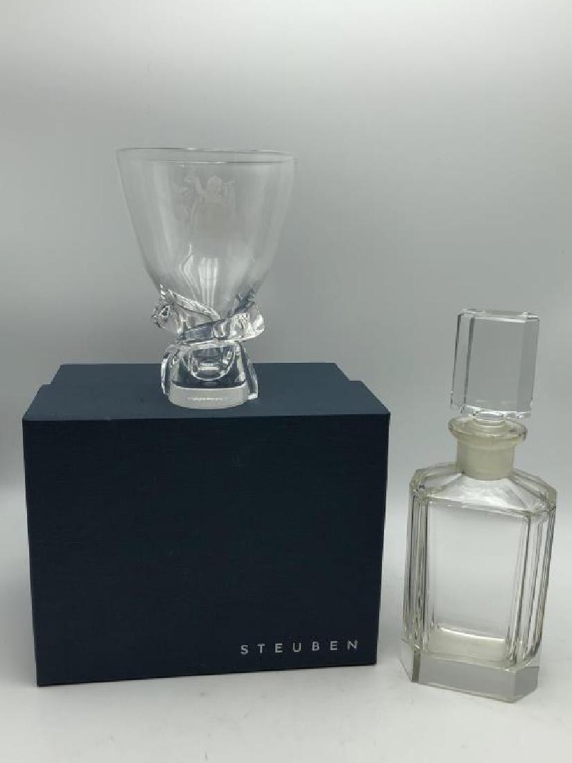 Steuben Art Glass Vase & Decanter