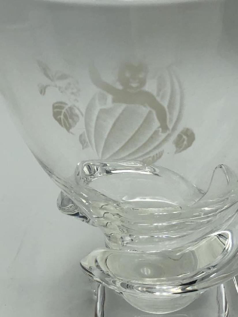 Steuben Art Glass Vase & Decanter - 3