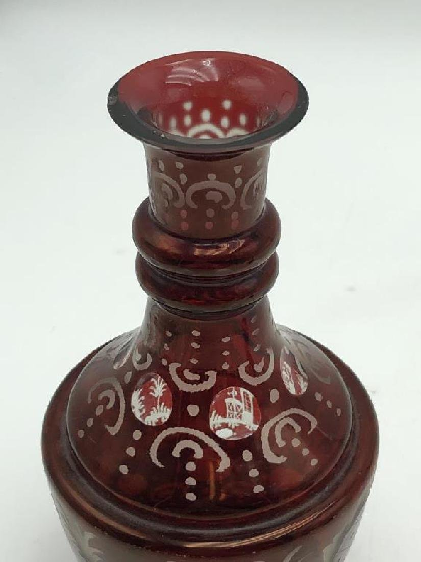 Bohemian Decanter set and Tray - 7
