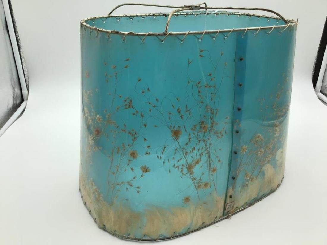 Van Briggle pottery lamp with original shade - 7