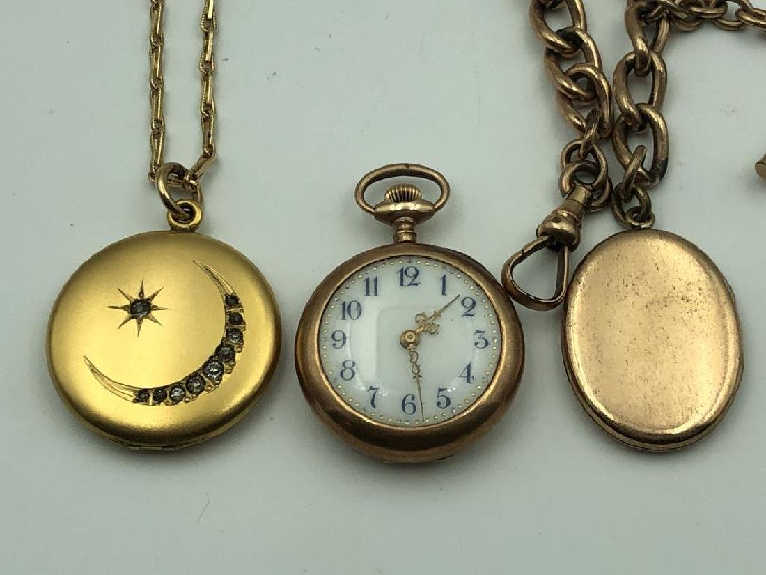 Locket and pocket watch lot