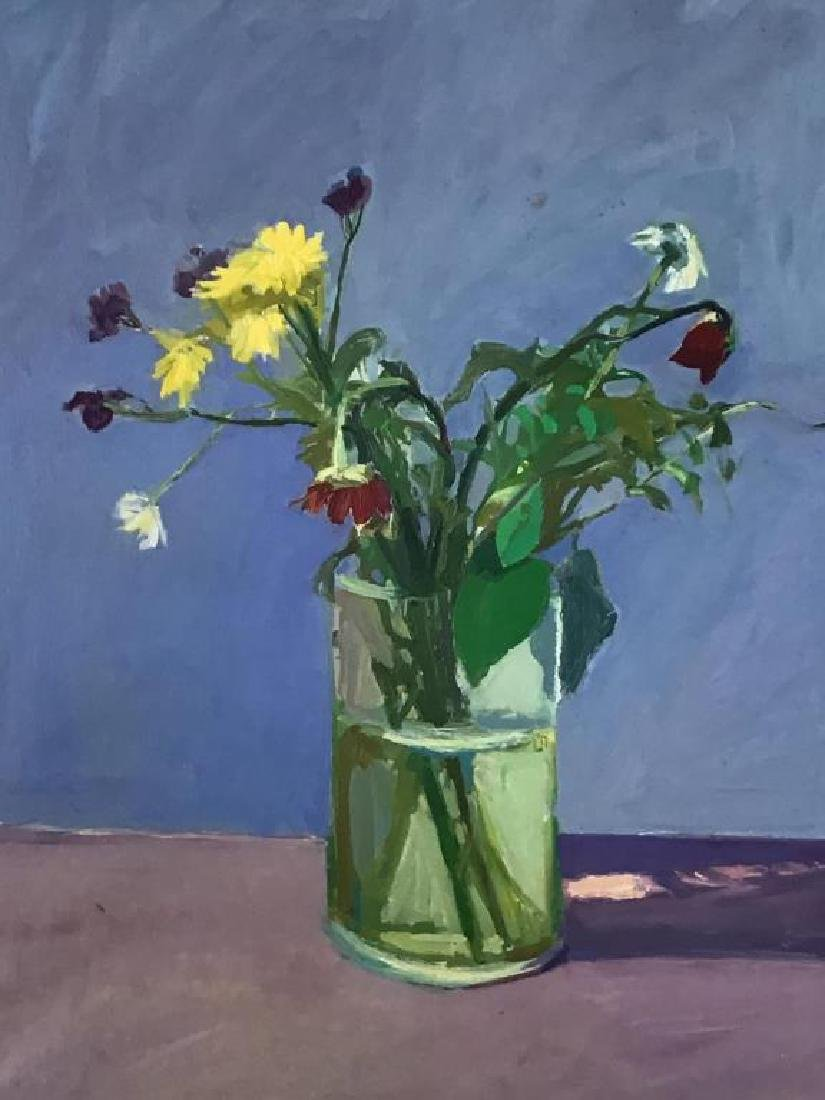 Floral Still Life Oil on Canvas - 2