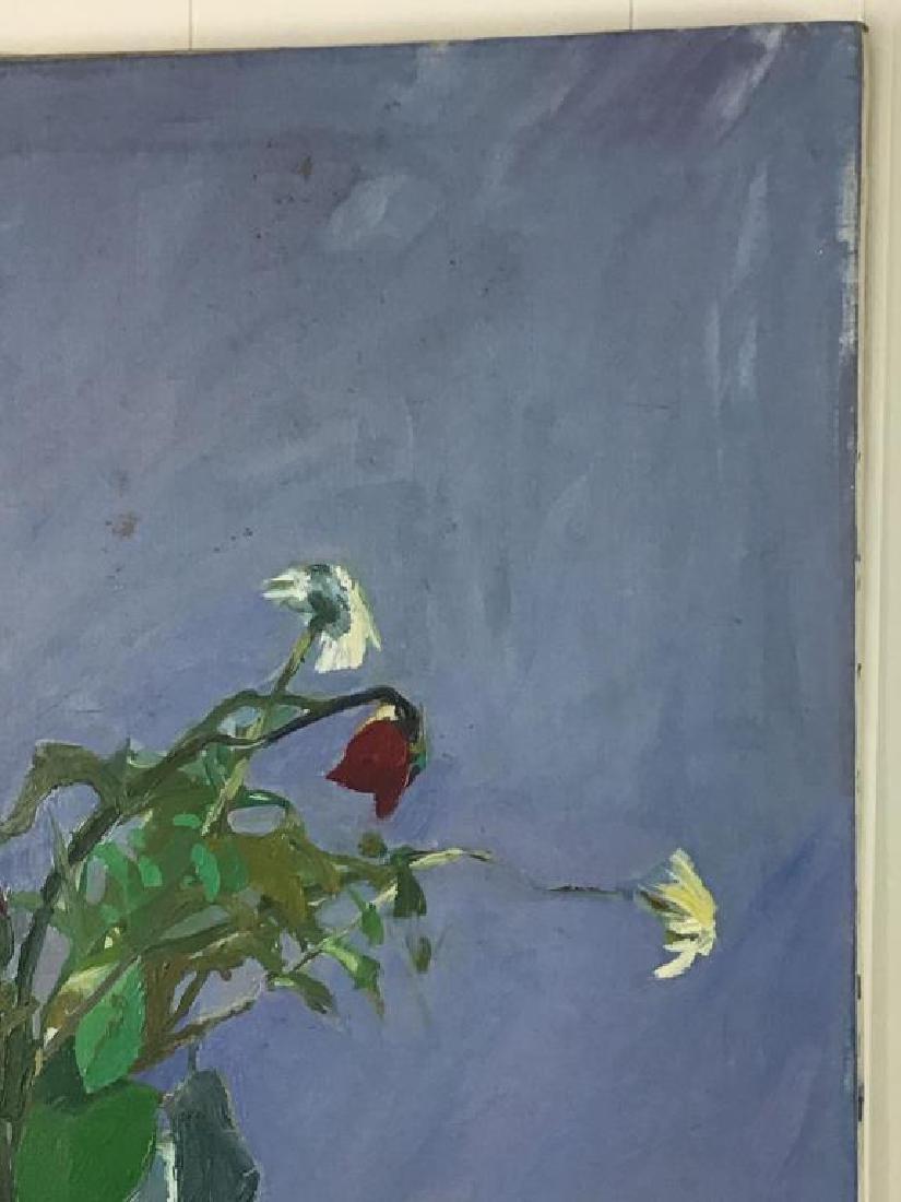 Floral Still Life Oil on Canvas - 3