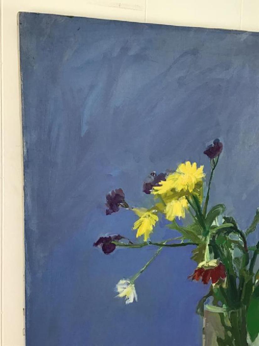Floral Still Life Oil on Canvas - 4