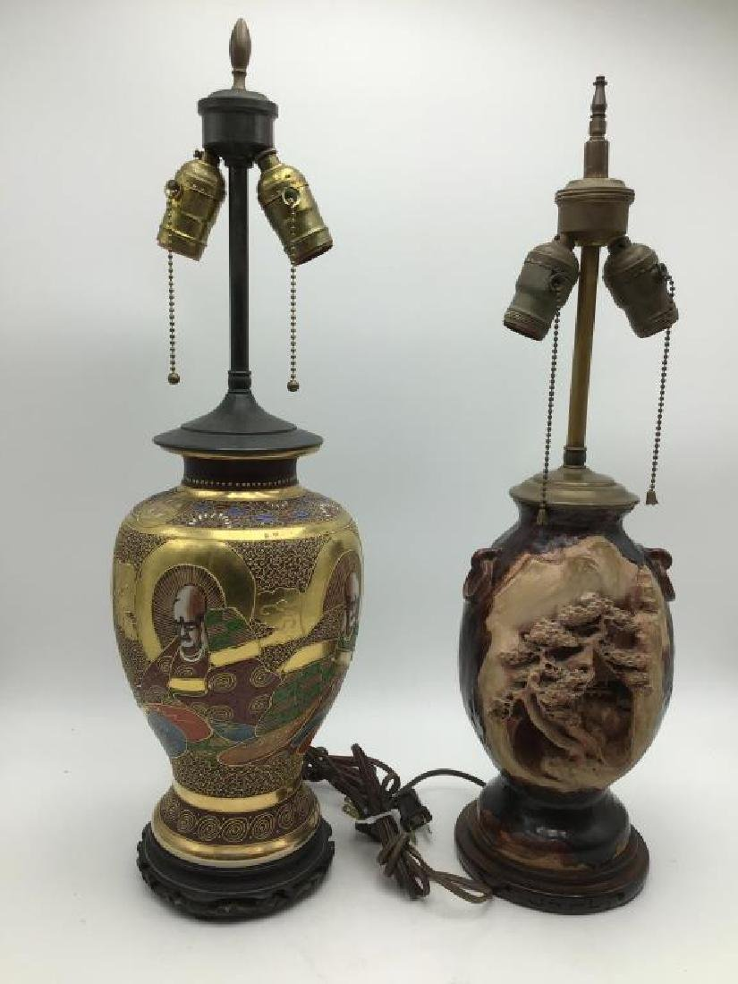 Two Asian table lamps