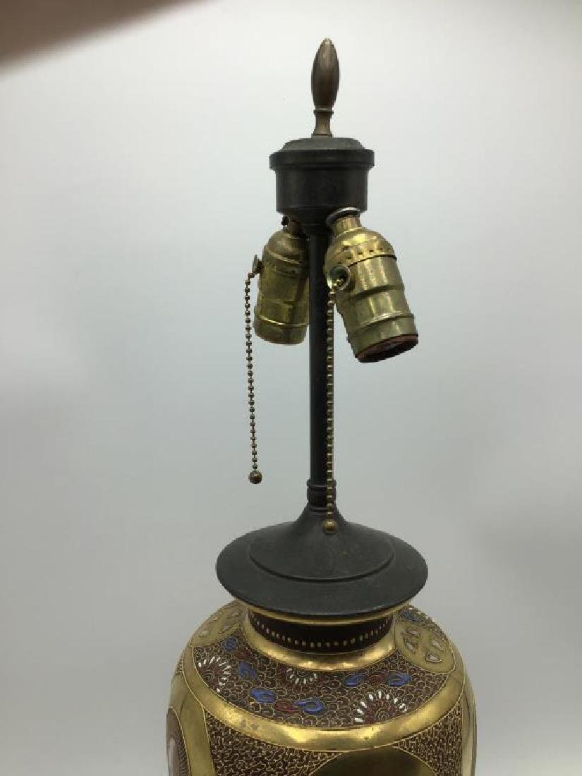 Two Asian table lamps - 3