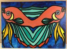 Fish Pop Painting by Kip Frace