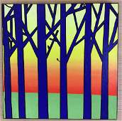 Tree Line Pop Painting by Kip Frace