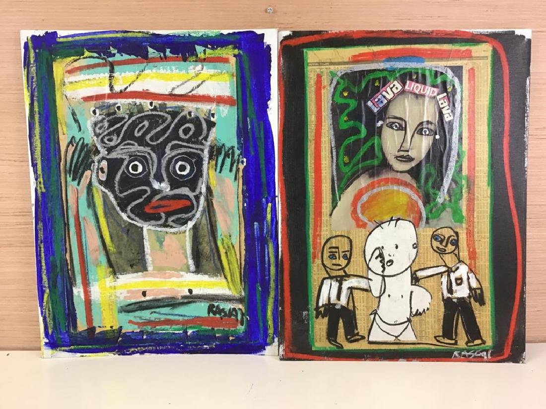 Two Mixed Media Paintings by RASCAL