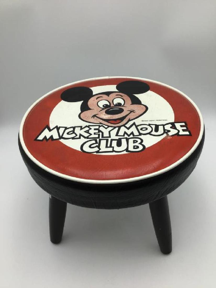 Mickey Mouse Club vintage foot stool