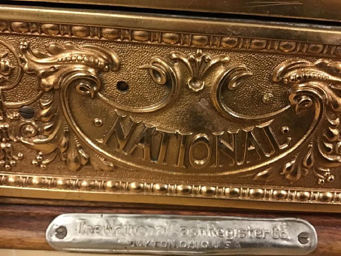 Antique 313 Brass Cash Register - 10