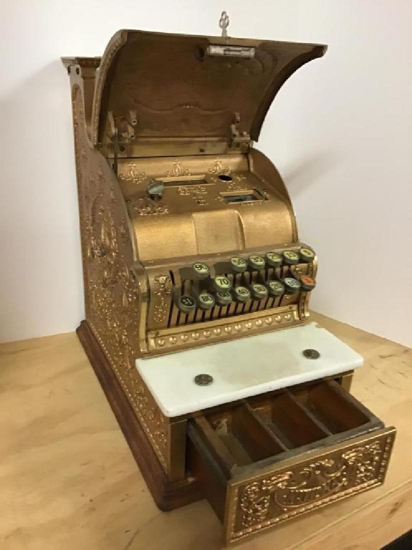 Antique 313 Brass Cash Register