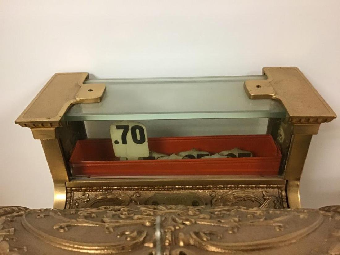 Antique 313 Brass Cash Register - 2