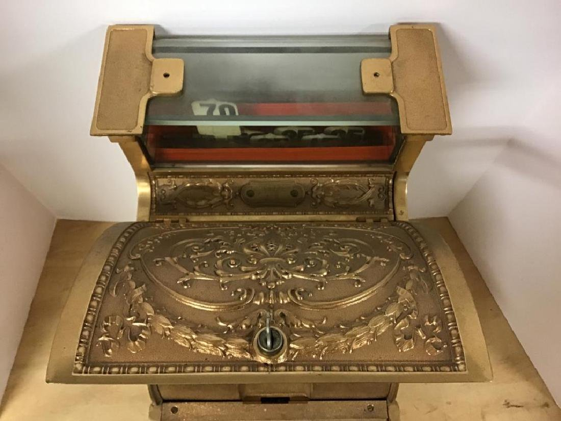 Antique 313 Brass Cash Register - 3
