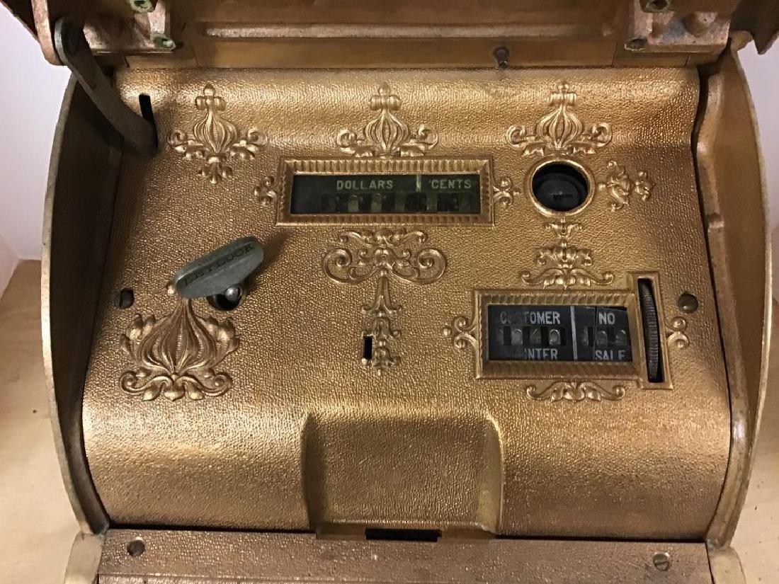 Antique 313 Brass Cash Register - 4