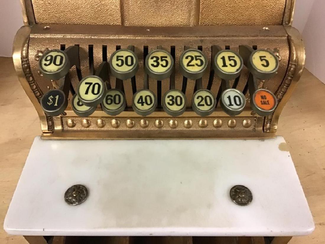 Antique 313 Brass Cash Register - 5