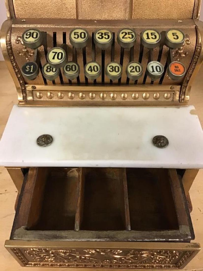 Antique 313 Brass Cash Register - 6