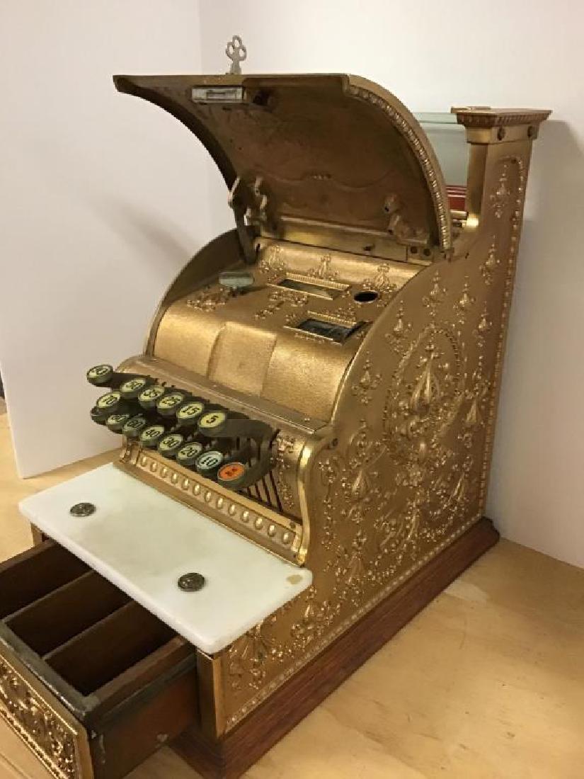 Antique 313 Brass Cash Register - 7