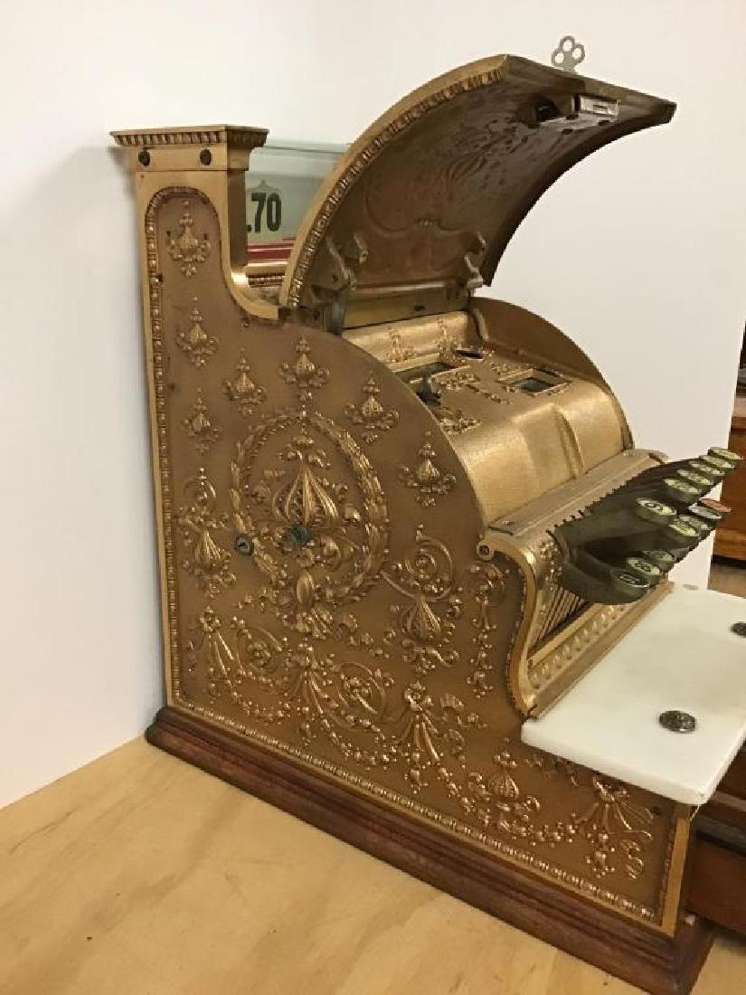 Antique 313 Brass Cash Register - 8