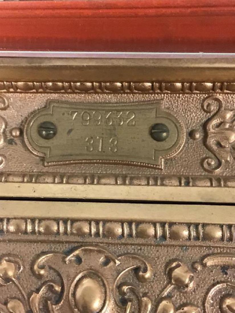 Antique 313 Brass Cash Register - 9