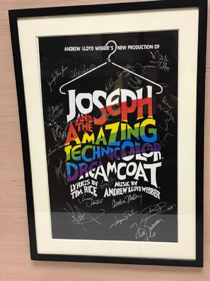 """Signed """"Technicolor Dreamcoat"""" Poster"""