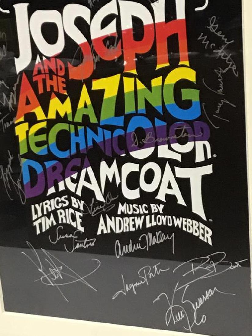 """Signed """"Technicolor Dreamcoat"""" Poster - 2"""