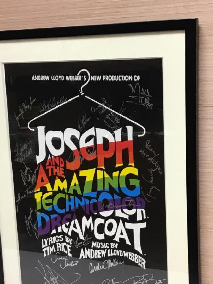 """Signed """"Technicolor Dreamcoat"""" Poster - 3"""