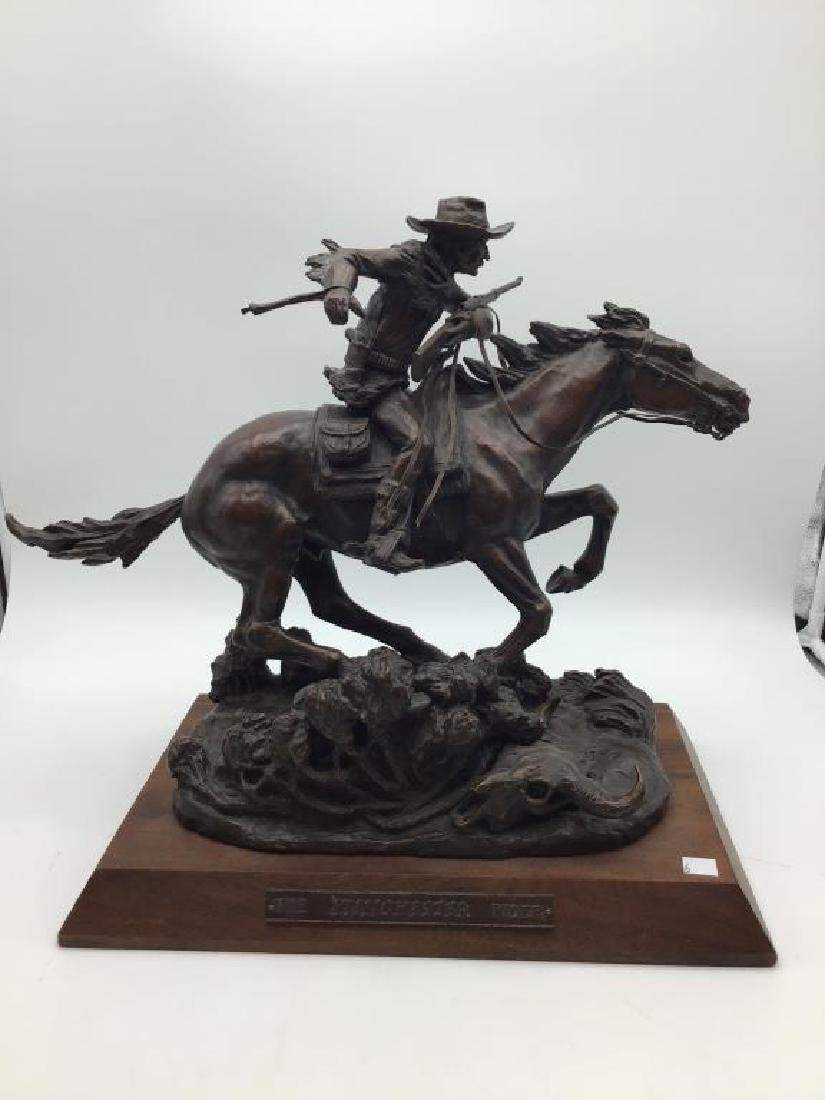 The Winchester Rider, bronze sculpture
