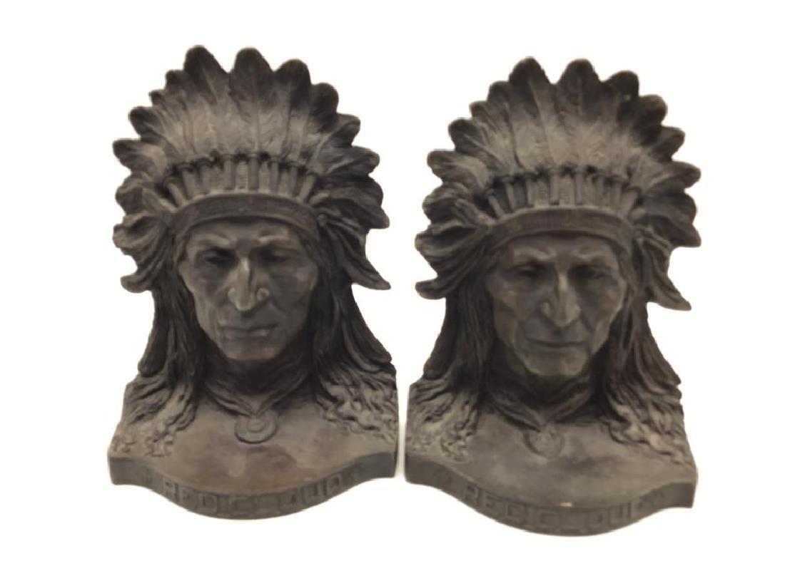 Eagle Arts bronze bookends