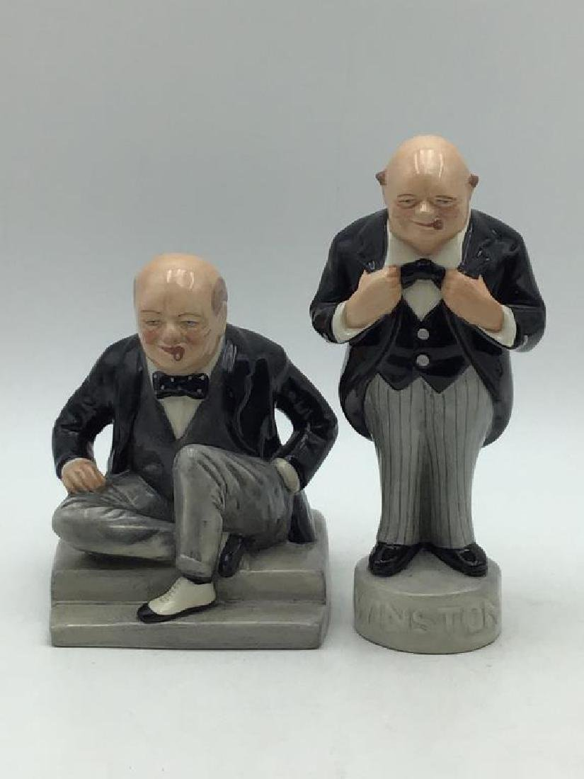 Lot of two Churchill figures